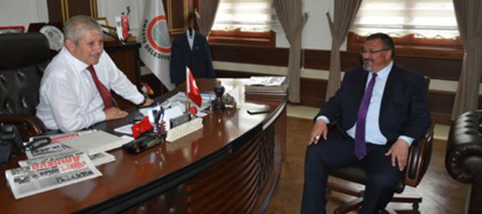 Milletvekili Mustafa Tuncer'den Belediye Başkanı Sarıya Ziyaret