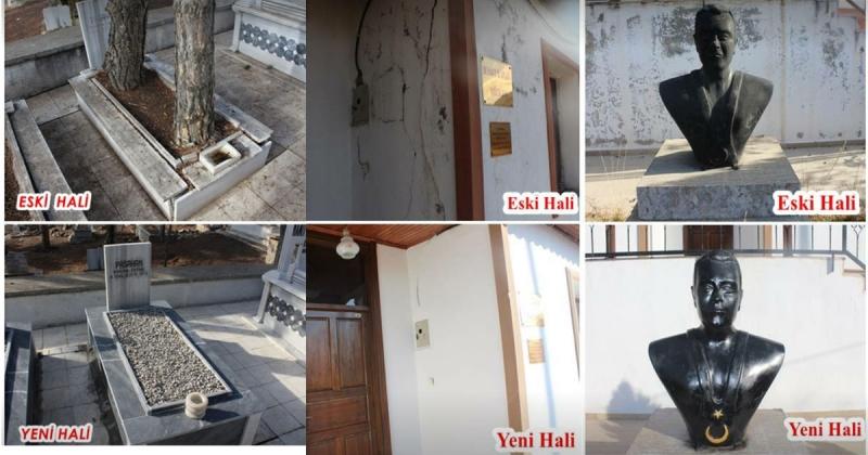 Milli Güreşçimiz Hamit Kaplan'ın Müze Evi ve Anıt Mezarı Onarıldı