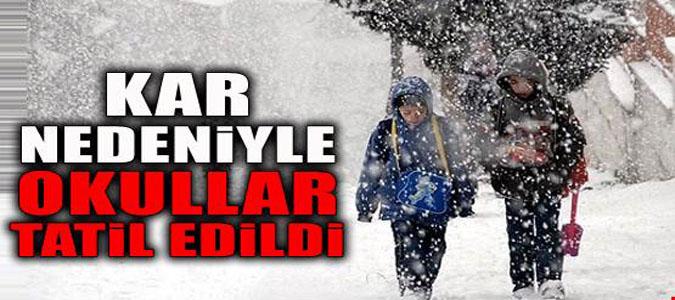 Okullar Kar Nedeniyle 1 Gün Tatil Edildi