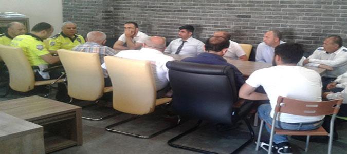 Otobüs Firma Yetkilileri ve Şoförlerle Toplantı Yapıldı
