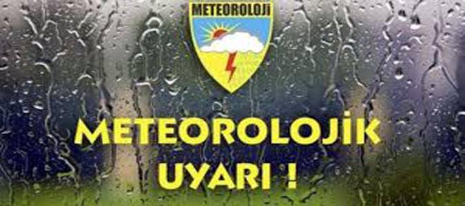 Sağanak Yağış Uyarısı !