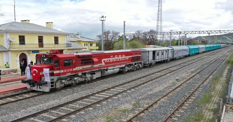 Samsun-Sivas Demiryolu Hattında İlk Yük Treni Seferi Gerçekleştirildi
