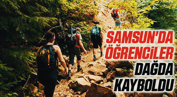 Samsun'da dağda kaybolan öğrencilerin imdadına jandarma yetişti