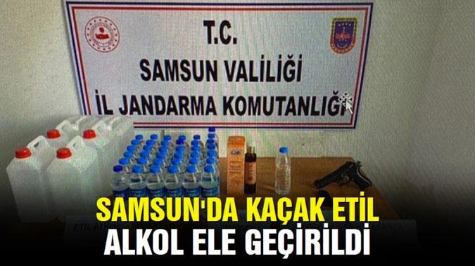 Samsun'da kaçak etil alkol ele geçirildi