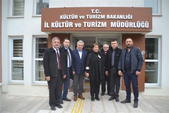 Serpil Saraçoğlu'ndan İl Kültür ve Turizm Müdürlüğü'ne Ziyaret