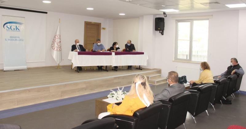 SGK Amasya İl Müdürlüğü Yetkilileri İle Toplantı Gerçekleştirildi
