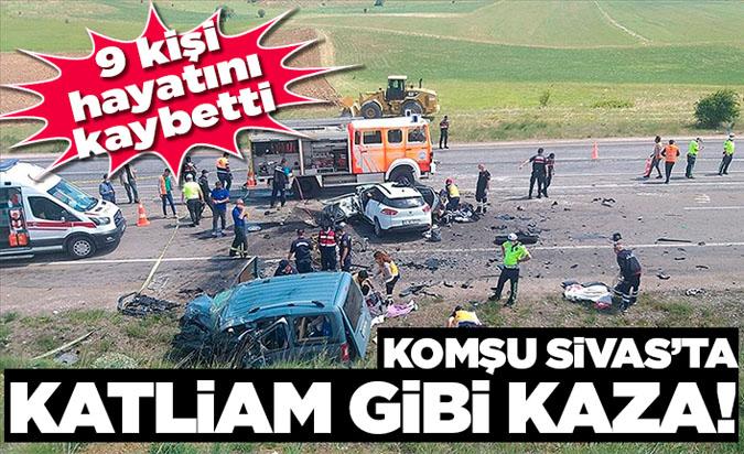 Sivas'ta Feci Kaza Çok Sayıda Ölü Ve Yaralı Var