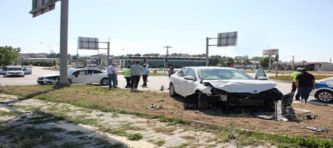 Suluova'da Trafik Kazası