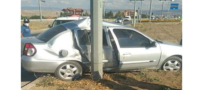 Suluova Otogar Kavşağında Trafik Kazası