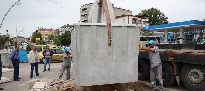 Suluova'da çöp konteynerleri yer altına alınıyor
