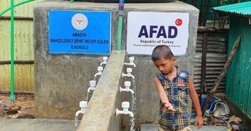 'Susuz Kardeşine Bir Damla Su Ol' Kampanyasına Şehit Recep Güler İlkokulundan Destek