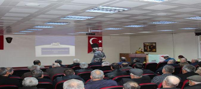 TKDK Gümüşhacıköy Ziraat Odası Üyelerine Yönelik Bilgilendirme Toplantısı Gerçekleştirildi