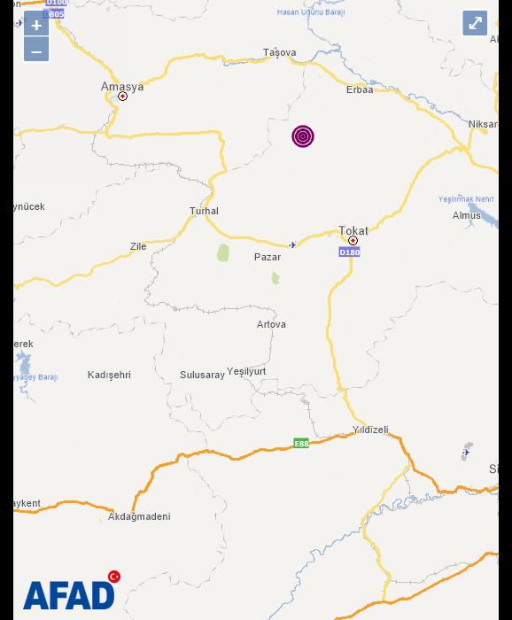 TOKAT Erbaa'da korkutan deprem