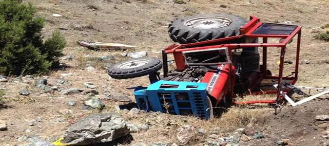 Traktör Uçuruma Devrildi: 1 ölü