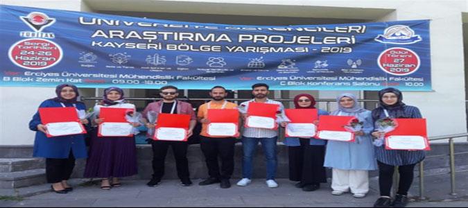TÜBİTAK'tan Amasya Üniversitesi Öğrencilerine 3 Ödül Birden