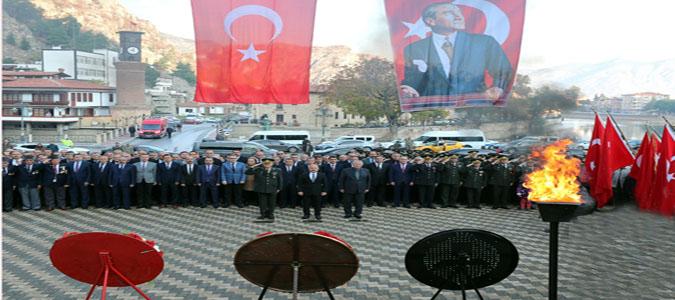 Ulu Önder Atatürk Ebediyete İntikalinin 81. Yıldönümünde Amasya'da Saygı ve Minnetle Anıldı