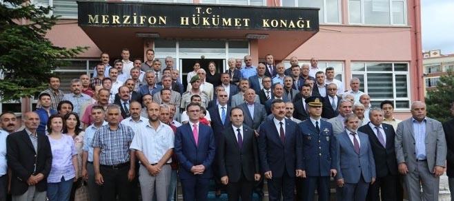 VALİ IŞIK MERZİFON'DA ZİYARETLERDE BULUNDU