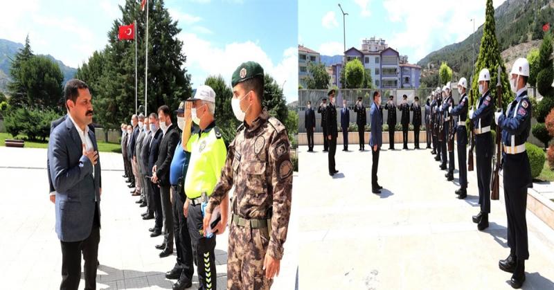 Vali Masatlı, İl Emniyet Müdürlüğü ve İl Jandarma Komutanlığı'ndan Brifing Aldı