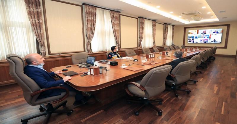 Video Konferans Sistemi Üzerinden Pandemi Üst Kurulu Toplantısı Gerçekleştirildi