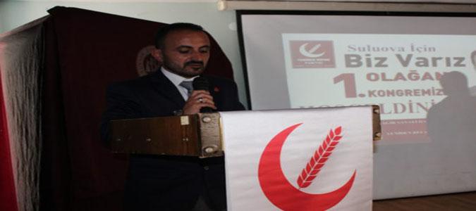 Yeniden Refah Partisi Suluova İlçe Başkanlığına Şerif Güngör Seçildi