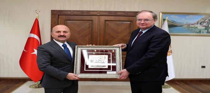 AB Türkiye Delegasyonu Başkanı Berger'den Vali Varol'a Ziyaret