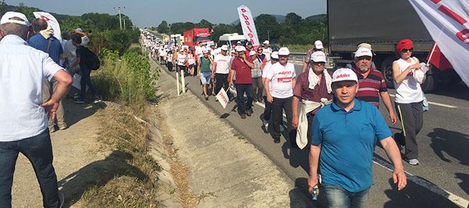 Adalet Yürüyüşü'ne Amasya desteği