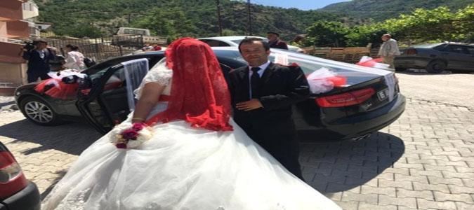 Amasya Belediyesinden Evlenenlere Düğün Arabası