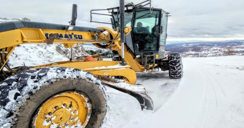 Amasya İl Özel İdaresi 'Karla Mücadele Ekibi' Köy Yollarını Açık Tutuyor