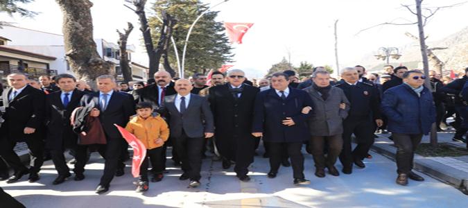 Amasya'da Şehitler ve Gaziler Yürüyüşü Gerçekleştirildi