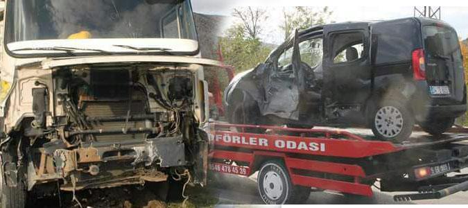 Amasya'da trafik kazası, 4 yaralı