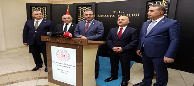 Bakan Kasapoğlu, Amasya'ya Kazandırılacak Spor Yatırımlarına İlişkin Açıklamalarda Bulundu.