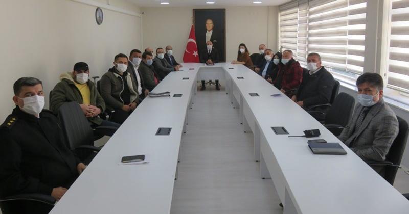 Esnaf Odaları Başkanlarıyla Covid-19 Bilgilendirme Toplantısı Gerçekleştirildi