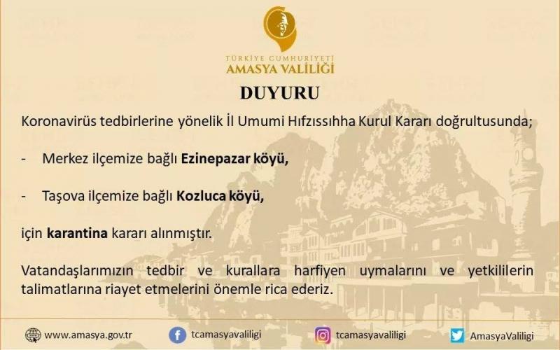 Ezinepazar Köyü Karantinaya Alındı