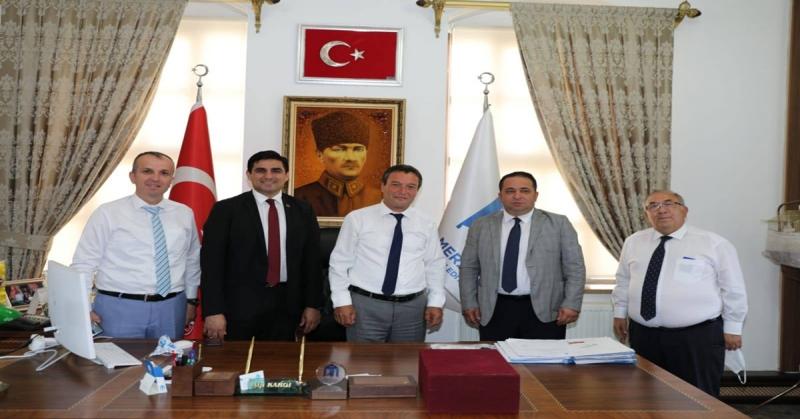 İBB Mahalli İdareler Koordinatörü ve Yardımcısı Merzifon Belediyesini Ziyaret Etti