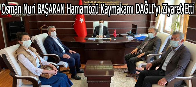 İlbank Samsun Bölge Müdürü  Osman Nuri BAŞARAN Hamamözü Kaymakamı DAĞLI'yı Ziyaret Etti
