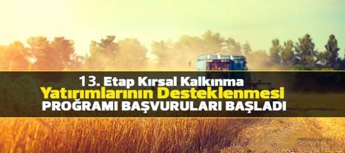 Kırsal Kalkınma Yatırımlarının Desteklenmesi Programı Başvuruları Başladı