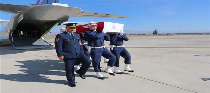 Şehidimiz Onur Yavan'ın Naaşı Merzifon Havalimanından Memleketi  Havza'ya Uğurlandı