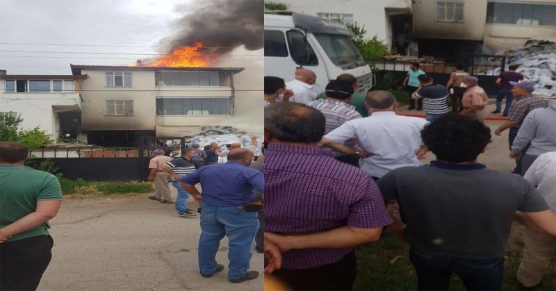 Suluova'da Samanlık Yangını