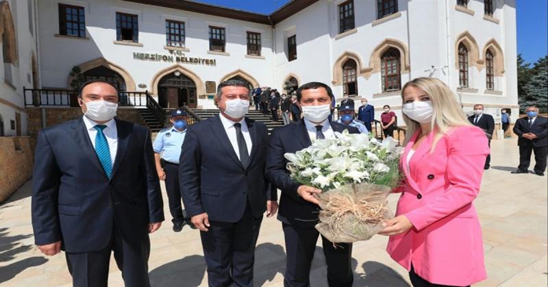 Vali Masatlı, Merzifon Belediyesi'ni Ziyaret Etti