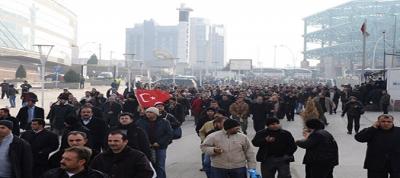 Ali Rıza Ağış Ankara da tekel işçilerine ziyaret